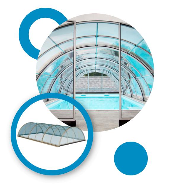 Zastrešenie bazéna Alfa