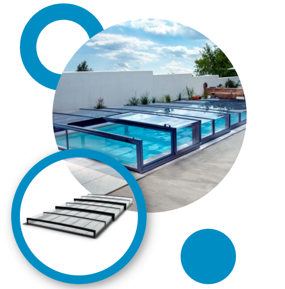 Elegantné zastrešenie bazéna Presige neruší vzhľad záhrady a harmonicky splynie s okolím. Dizajn zastrešenia bazénov Prestige sme navrhli tak, aby zodpovedal moderným trendom.